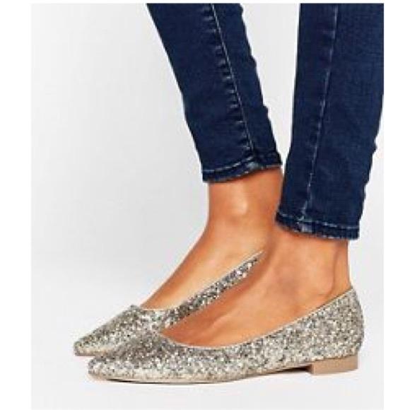 ASOS Shoes | Glitter Flats Party | Poshmark